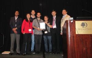 Equipe da UFSC e pesquisadores da IBM que organizaram o evento.