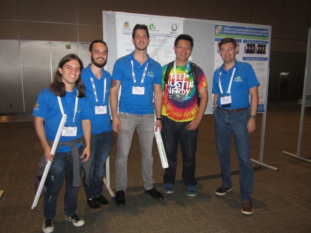 Equipe do ECL/INE e pesquisador da empresa Cadence Design Systems.