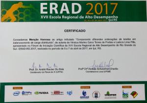 Menção Honrosa Vinícius Freitas ERAD